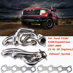 For Ford F150 F250 Expedition 5 4l Shorty Performance Headers Exhaust 1997 2003