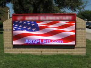Double Sided 10mm Led Sign Full Color Rgb Outdoor indoor 19 h X 76 Factory Usa