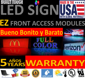 Led Sign Wifi Full Color 12 5 h X 51 w 10mm Outdoor Restaurant Made In Usa