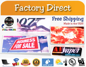 Led Sign For Restaurants And Advertisement Full Color 6 5 X 162 5 usa Factory