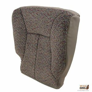 1998 2002 Dodge Ram 1500 2500 3500 Slt driver Bottom Cloth Seat Cover Mist Gray