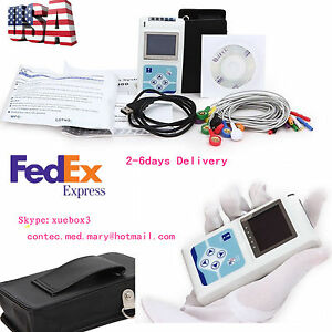 Usa 12 Channel Ecg Holter Ecg 24 Hours Holter Ekg Monitor Software tlc5000 Ce