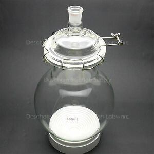 5000ml glass Reaction Kettle 24 29 single Neck 5l round Bottom Chemical Reactor