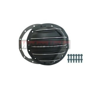 Black Aluminum Differential Cover Chevy Gm Intermediate12 Bolts 8 8 Ring Gear