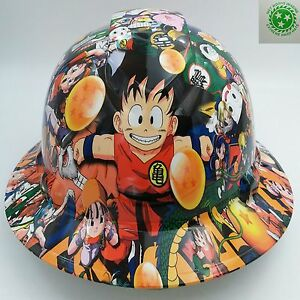 Full Brim Hard Hat Custom Hydro Dipped New Dragon Ball Z Hot New Pyramex