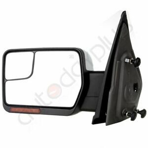Driver Chrome Left Side Mirror Power Heated Signal Light For 2007 14 Ford F 150