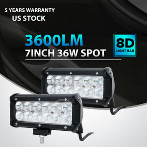 2x 7inch 36w Cree Led Work Light Bar Spot Offroad Atv Fog Truck Lamp 4wd 12v 6