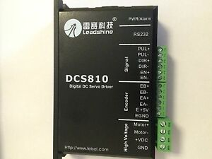 Leadshine Digital Dc Brush Servo Drive Dcs810 Dcs 810 80vdc 20a New 1pc