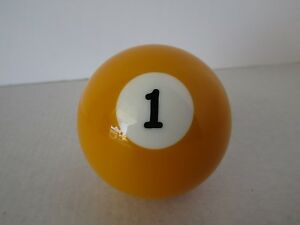 1 Yellow Billiard Ball Shift Knob Chevy Ford Hot Rod Rat Rod Classic 70661