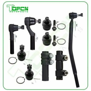 9pcs For 1999 2003 2005 Ford E350 Super Duty Suspension Ball Joints Tie Rod Ends