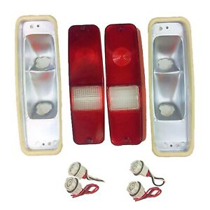70 78 International Scout Ii Tail Light Lens Set Brake Lens 69 75 D Series Truck