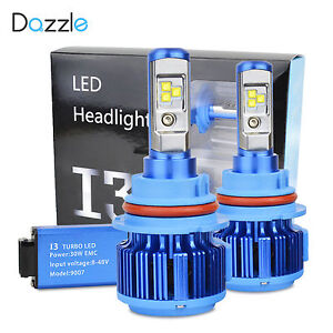 9007 Hi lo Dual Led Headlight Kit Bulbs 60w 7200 Lm Cree 6000k White Beam