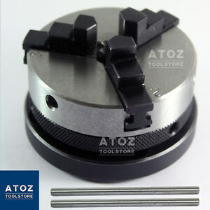 Atoz 65mm 3 Jaw Self Centring Lathe Chuck Handles New