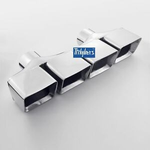 2 5 Exhaust Tips Quad Square Rectangle Stagger For Dodge Challenger R t 5 7l