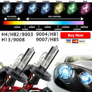 Two Xentec High Low Xenon Lights Hid Kit S Replacement Bulbs H4 H13 9007 9004