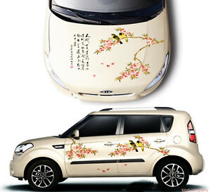 1set Bird Tree Flower Car Truck Auto Graphics Side Body Decal Emblem Stickers