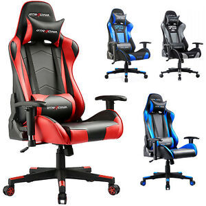 Gtracing Executive Racing Chair Gaming Chair Ergonomic Pu Leather Office Desk