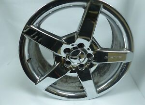 Oem Mercedes Benz Amg 18 8 5 Chrome Wheel Rim Rear Staggered