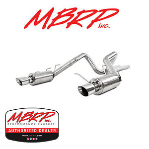 Mbrp S7264al Cat Back Dual Exhaust 2011 2014 Ford Mustang Gt 5 0l Race Version