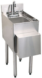 Glastender Stainless Steel C hsa 12 d 1 Compartment Hand Sink W towel Dispenser