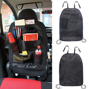Portable Black Pouch Car Back Seat Organizer Storage Bag Multi Pocket