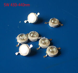 50pcs 5w 2 chips High Power Royal Blue 430 440nm Led High Powe Led Chip