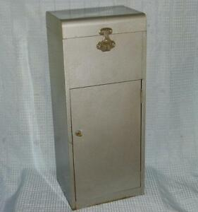 Vintage Eagle Lock Co 30 Industrial Gray Metal Locking Filing Cabinet