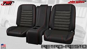 1961 86 Ford Pickup sport Seat Complete Bucket Seat Kit W Console Custom