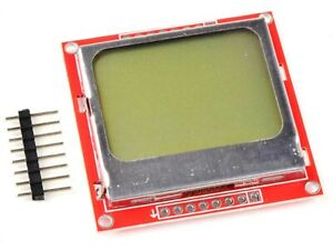 Lcd Display 84 48 Pixel Spi Backlight Nokia 5110 For Arduino Etc
