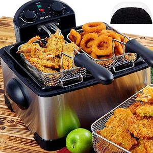 Commercial Deep Fryer Fast Food French Fry Electric 1700w Stainless steel Basket