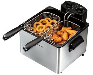 3l Commercial Electric Deep Fryer Hamilton Beach 3 baskets Fast Food French Fry
