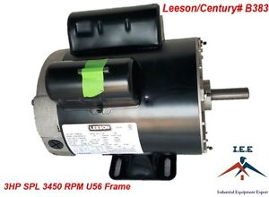 3 Hp 3600 Rpm Air Compressor Electric Motor 115 230 Volts new Century B383