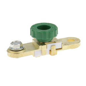 Auto Battery Link Terminal Quick Cut Off Disconnect Master Kill Switch Brass