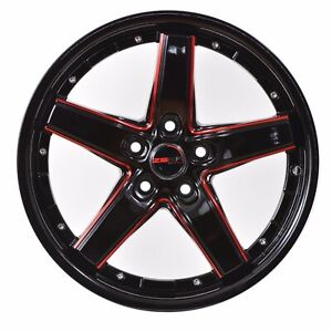 4 Drift 18 Inch Black Red Mill Rims Fits Acura Integra Type R 2000 2001