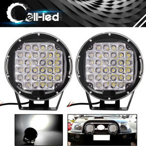 2x 9inch 225w Round Led Work Light Spot Driving Lamp Headlight Offroad Atv Truck