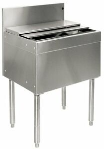 Glastender Stainless Steel Commercial Underbar Ice Bin 18 With Lid Heavy Duty