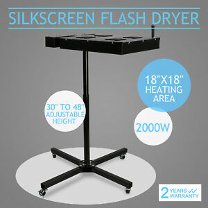 18 x18 Flash Dryer Silkscreen Printing Heating Heavy Duty Adjustable Prints Diy