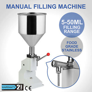 Manual 5 50ml Liquid Filling Machine Cream Paste Shampoo Cosmetic Filler Sliver