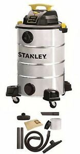 Wet dry Vacuum Cleaner Portable Shop Vac 12 Gallon 5 5 Horse Stainless Steel