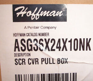 New Hoffman Asg36x24x10nk Junction Pull Box Screw Cover N1 Enclosure Ships Today
