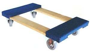 Nk Furniture Movers Dolly With 3 Heavy Duty Swivel Casters 30 X 17 Blue