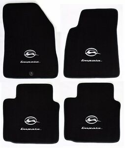New Black Floor Mats 2006 2014 Chevy Impala Embroidered Running Double Logo All