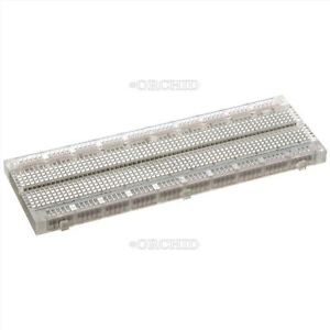 10pcs Test Pcb Bread Board Mb 102 Transparent Material 830 Point Solderless Ic O