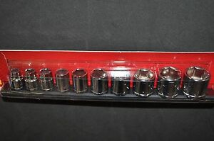 3 8 In Drive Standard Sae Socket Set 5 16 To 7 8 With Socket Holder H