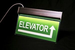 Double sided Acrylic Elevator Sign Led Edge lit Emergency Signage