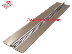 100 2ft Aluminum Omega Radiant Floor Heat Transfer Plates For 1 2 Barrier Pex