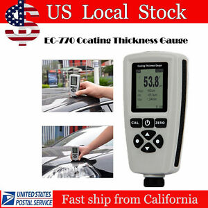 Lcd Digital Paint Coating Thickness Gauge 0 1300um F n Probe Thickness Meter Usa
