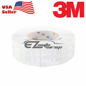 3m Diamond Grade White Conspicuity Tape 2 X 2 Ce Approved Reflective Safety