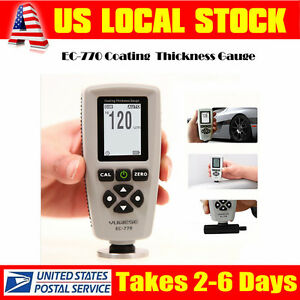 Ec 770 Lcd Digital Coating Film Paint Thickness Gauge Probe Meter Tester Tool Us