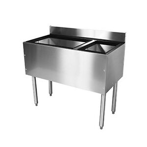 Glastender C cba 48r Cocktail Unit Combo Ice Bin 48 With Right Bottle Well